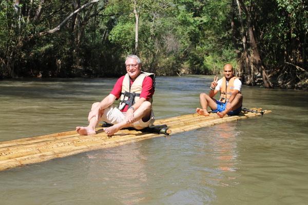 bamboo rafting in mae wang, rafting in mae wang