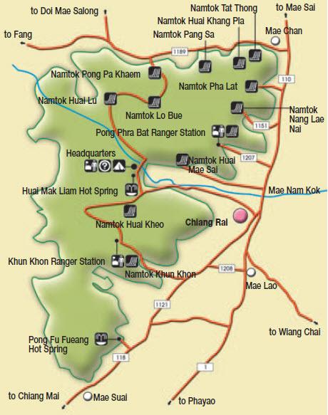 Lam Nam Kok National Park Chiang Rai Attractions