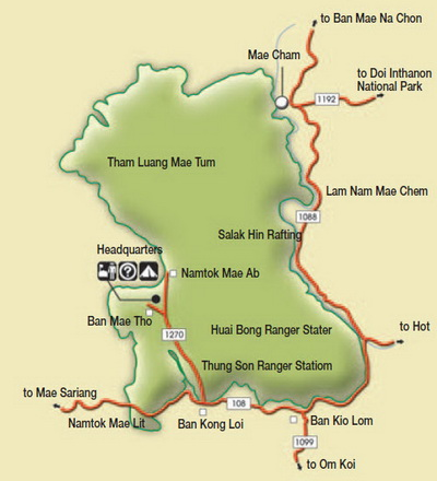 mae tho national park, mae tho, national parks in northern thailand