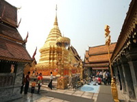 important temples in the north of thailand, Wat Phrathat Doi Suthep