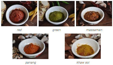 asia scenic thai cooking school, curry paste