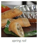 asia scenic thai cooking school, spring roll