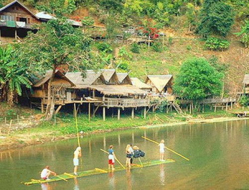 Meahongson Tour 03 : 2 Days Package Tour Rafting along Pai River and Cave