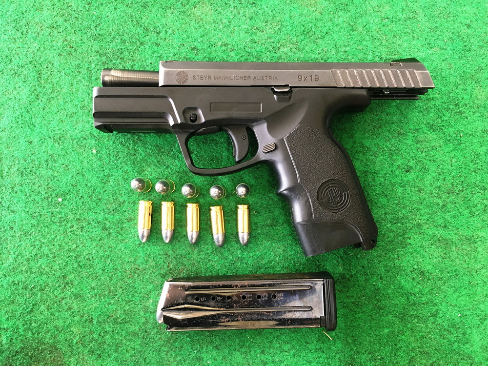 9 mm. pistol, chiang mai shooting, chiang mai shooting range, shooting range in chiang mai