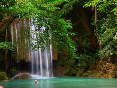 erawan waterfall, erawan waterfall kanchanaburi, namtok erawan, namtok erawan kanchanaburi