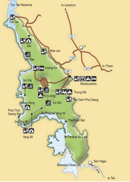 mae ping national park map, mae ping national park, mae ping, maeping national park, mae ping forest park