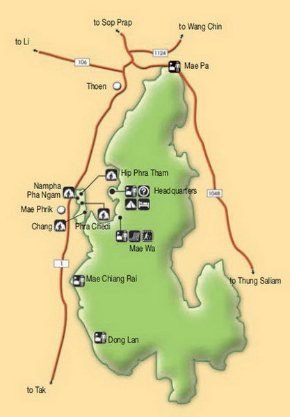 mae wa national park, mae wa forest park, mae wa national park lampang, national parks in lampang