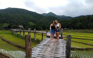 kokulo bridge, pai bamboo bridge, tour pai green season, tour pai, budget tour in pai, pai join in group tour