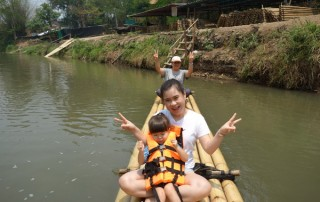 mae wang tour, mae wang national park tour, bamboo rafting along mae wang river, bamboo rafting mae wang