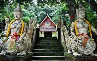 offering to monks, food offering to monks, offering to monks at morning, pha lad temple, pa lad temple, wat pha lad, wat pa lad
